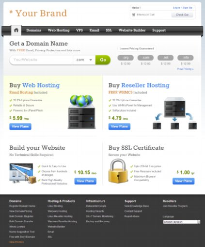 Domains and Hosting Layout